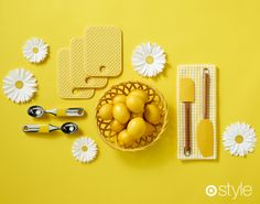 Hue of the day: Mellow Yellow When life gives you lemons, put them in a cute dish. own it now: shop all items in store.