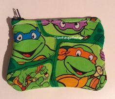 Teenage Mutant Ninja Turtles Coin Purse Fully Fleece Lined Handmade