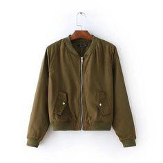 85bf99f21bf Women biker jacket short coat baseball bomber jackets female outwear red  green black 3color long sleeve S-XL bomberjack vrouwen. Flight Bomber  JacketArmy ...