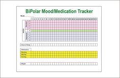 Bipolar Mood Chart Template   Mood Chart Bipolar Mood Chart Free Professional Versions Online
