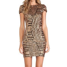 Chicloth Angel Look Silver Striped Sequin Dress