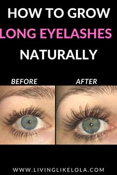 The EXACT product I  used to grow my eyelashes longer and stronger. How to grow your eyelashes naturally overnight! Long eyelashes #eyelash #makeup #beauty