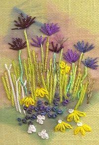 Springtime Textile Mini Embroidery Project 1224