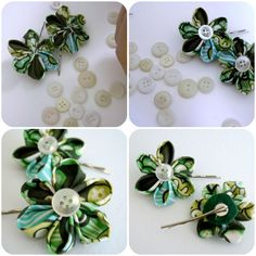 Madeline's Wardrobe: Behind the Scenes - Kansashi flower bobby pins