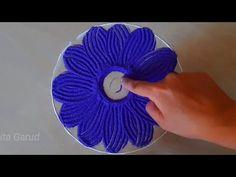 Easy rangoli design || satisfying,relaxing rangoli art - YouTube Festival Rangoli, Simple Rangoli, Rangoli Designs, Relax, Floral, Youtube, Art, Art Background, Flowers