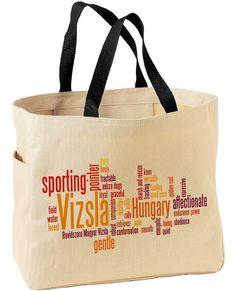 Vizsla in Words Tote Bag