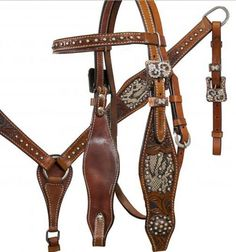 Snake print headstall and breast collar set with copper hardware and conchos-Snake print headstall and breast collar set with copper hardware and conchos