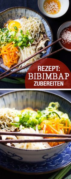 Rezept für Bibimbap, asiatische Rezepte / recipe for bibimbap, asian recipes, healthy via DaWanda.com