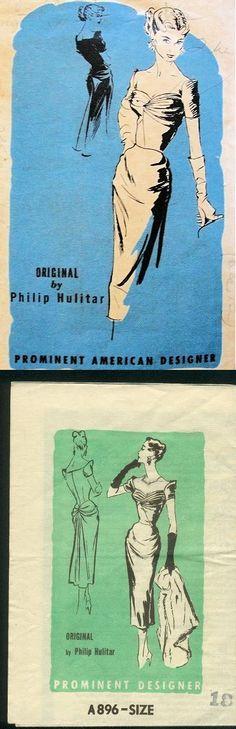 Prominent Designer A896, Philip Hulitar; Sz 12/Bust 30