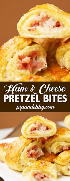 These delicious Ham and Cheese Pretzel Bites are the PERFECT party food! Don't be intimidated by the cooking process. It's way easier than it looks! You will not be disappointed. #partyfood #pretzelbites #hamandcheese