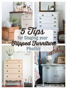 5 Tip To Stage Your Flipped Furniture Photos | Lost U0026 Found