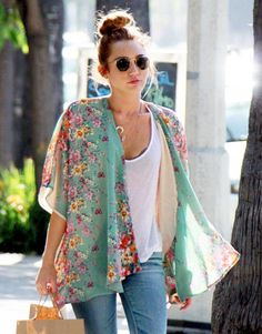 I really want a light kimono and also love the vintage-looking floral.