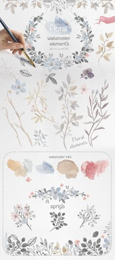 45%OFF! Fairy watercolors Bundle by Mikibith on @creativemarket