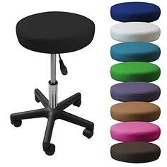 Linxor France ® Tabouret à roulette réglable en hauteur de 45 à 62 cm et pivotable à 360° – 9 coloris – Norme NF EN 1022