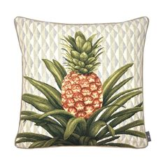 Cushion Pineapple and foliage on gray background - Cushions - Art de Lys