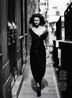 visual optimism; fashion editorials, shows, campaigns & more!: femme noir: nanou vandecruys by patric shaw for uk marie claire september 2013