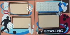 Bowling 12x12 Premade Scrapbook Layout