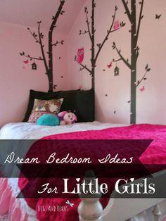 Little Girls Dream Bedroom Makeover   Decor Series #makeover #girls #wallstale #DIY