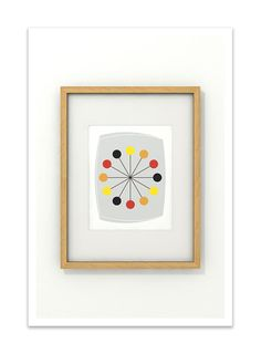 ORBS  8x10 Giclee Print  Clean Modern Abstract Mid by Thedor, $18.00