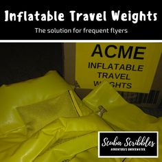 Inflatable Travel Weights by Candice Landau | Scuba Scribbles #scuba diving