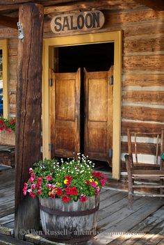 "Nevada City, Montana, restored mining town, saloon. Nevada City was one of the two major centers of commerce in what was known as one of the ""Richest Gold Strikes in the Rocky Mountain West,"" it shared that role with its sister city Virginia City, Montana"