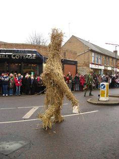 Straw Bear festival. Whittlesey.