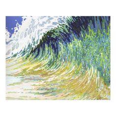 Customizable #Abstract #Arctic #Atlantic #Beach #Blue #Coast #Fine #Fish #Green #Hawaii #Nature #Ocean #Organic #Pacific #Sea #Surf #Surfing #Swim #Wake #Wrap Huge Ocean Wave Surf Canvas Beach Art by Juul available WorldWide on http://bit.ly/2ftA0IY