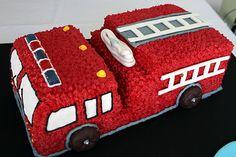 firetruck cake | Fire Truck Cake & Fire Cupcakes | Heather Drive