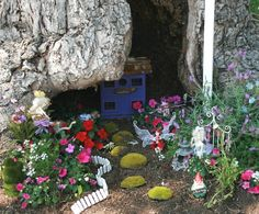 A whimsical fairy garden is a lovely surprise for visitors