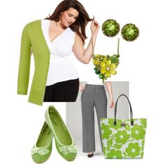 """Plus Size in Green"" by elise1114 on Polyvore #frog #necklace"