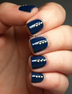 azul #simple #mani   evelyn hall d