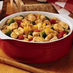 Chicken 'n' Peppers Recipe -With garden-fresh peppers and tender chicken, this dish is perfect when your family is craving a lighter dinner. Serve it with rice and green salad