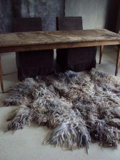 felted wool carpet rug
