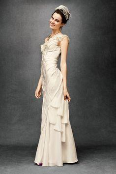 Ribboned Silk Gown-bhldn