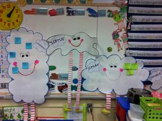 Cloud people for teaching clouds during Science this also has other teaching ideas for kindergarten weather lessons