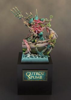 """""""Gutrot Spume"""" Lord of Nurgle - Took about 300 hours to paint this one model."""