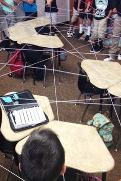 Question Web...team building activity, all you need is a skein of yarn and a great question! super fun! @Lisa Notebook