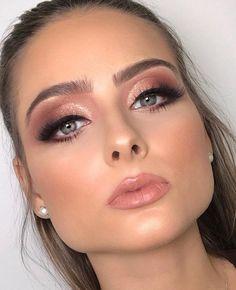 Fancy Makeup, Formal Makeup, Simple Makeup, Natural Makeup, Pretty Makeup, Natural Beauty, Wedding Eye Makeup, Wedding Makeup Looks, Prom Makeup