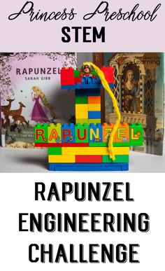 Our Rapunzel engineering challenge let us play as we learned about building and as we retold a favorite story. Perfect for princess preschool! Princess Activities, Fairy Tale Activities, Steam Activities, Disney Activities, Summer Activities, Rapunzel, Fairy Tales Unit, Preschool Science, Life Science