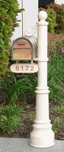Newport Mailbox Post  Westchester Brass Mailbox with Locking Insert Option