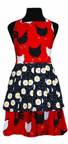 asd Living Jessica Children's Apron with What Came First Design asd Living