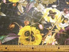 Floral Navy Hickory Chiffon