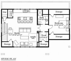 Garage Studio Apartment Plans carriage house plans | craftsman-style garage apartment plan with