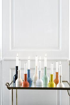 Ferm Living Candleholder Wine Bottle - large H 17 cm - flere farver