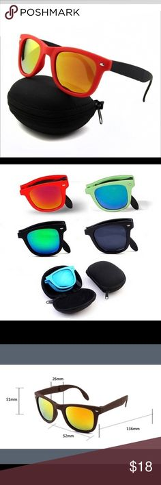 Foldable Sunglasses w/Case Product Name: Folding Sunglasses   Product Weight: 60 grams Accessories Sunglasses