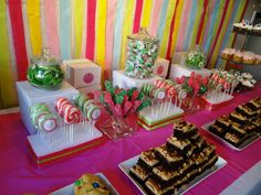 Candy and dessert buffet