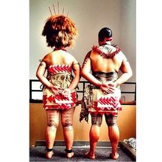 Traditional dress. Traditional Tattoo.