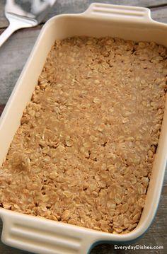 No-bake peanut butter oat bars recipe