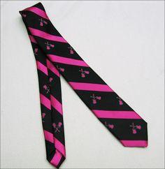 "PINK GUITARS on BLACK BOY'S Tie NECKTIE Polyester, 4-7 22"" long 1 3/4"" wide | eBay $16.99"