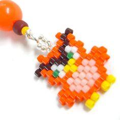 Zipper Pull Owl Charm Brick Stitch Beadwork Cute by HandmadeCute, $4.25